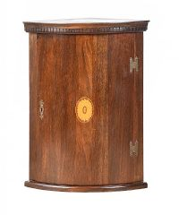 NINETEENTH CENTURY BOW FRONT CORNER CABINET at Ross's Auctions