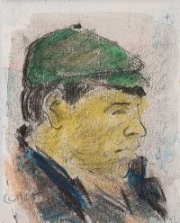 THE GREEN CAP by William Conor RHA RUA at Ross's Auctions