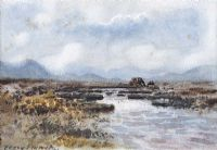 RIVER & BOGLANDS, CONNEMARA by William Percy  French at Ross's Auctions