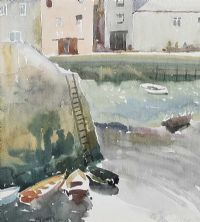 BOATS IN A HARBOUR by Gerard Dillon at Ross's Auctions