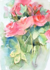 STILL LIFE, ROSES by Tom Carr HRHA RUA RWS at Ross's Auctions