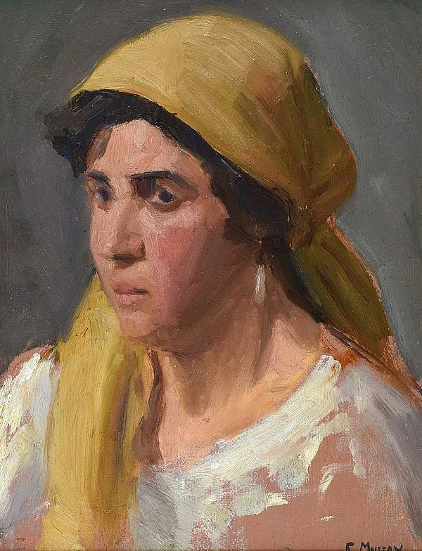 PORTRAIT OF A GIRL by Eileen Murray at Ross's Online Art Auctions