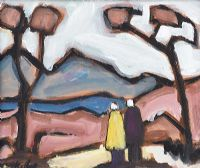 COUPLE BY THE TREES by Markey Robinson at Ross's Auctions