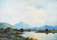A GREY DAY, CONNEMARA by Douglas Alexander RHA at Ross's Auctions