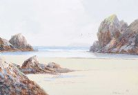 ROCKS, KYNANCE, CORNWALL by R. Daniel Sherrin at Ross's Auctions