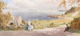 HELEN'S BAY, COUNTY DOWN by Joseph William  Carey RUA at Ross's Auctions