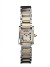 CARTIER STAINLESS STEEL WRIST WATCH at Ross's Auctions
