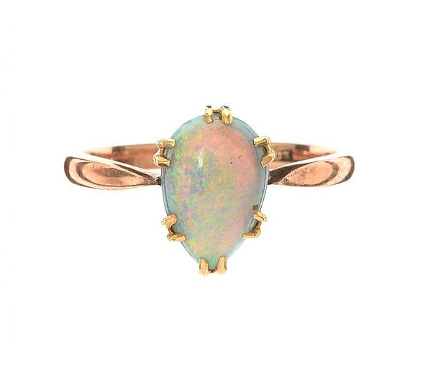 9CT GOLD OPAL RING at Ross's Online Art Auctions