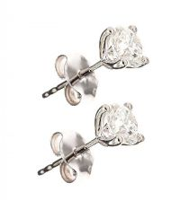 18CT WHITE GOLD DIAMOND EARRINGS at Ross's Auctions