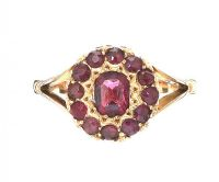EDWARDIAN 15CT GOLD AMETHYST RING at Ross's Auctions