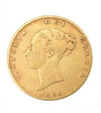 SHIELD BACK HALF SOVEREIGN at Ross's Jewellery Auctions
