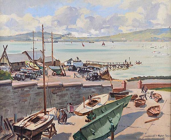 ROYAL NORTH OF IRELAND YACHT CLUB, CULTRA by Robert Taylor  Carson RUA at Ross's Online Art Auctions