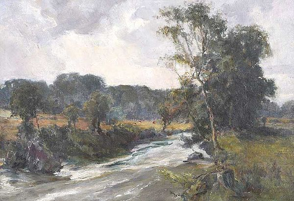 TREES BY THE RIVER by William Gibbs Mackenzie ARHA at Ross's Online Art Auctions