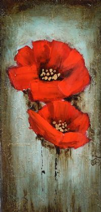 REMEMBRANCE POPPIES by English School at Ross's Auctions