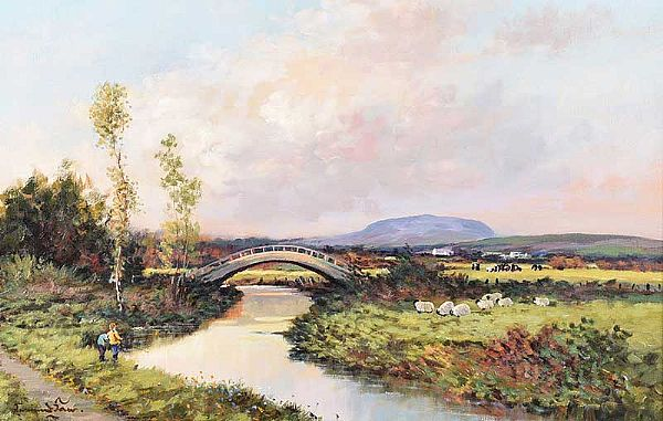 SLEMISH, COUNTY ANTRIM by William Cunningham at Ross's Online Art Auctions