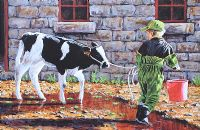 THE NEW CALF by Keith Glasgow at Ross's Auctions