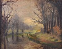 THE LAGAN IN DECEMBER by William Henry Fry at Ross's Auctions