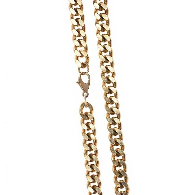 9CT GOLD CURB LINK NECKLACE at Ross's Online Art Auctions