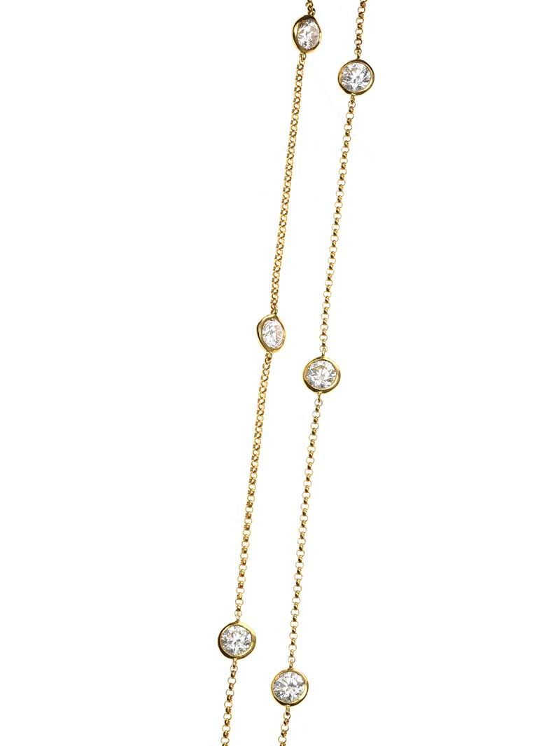 18CT GOLD DIAMOND NECKLACE at Ross's Online Art Auctions