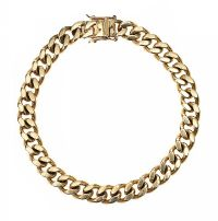 9CT GOLD CURB LINK BRACELET at Ross's Jewellery Auctions