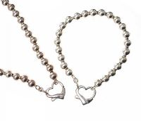 STERLING SILVER NECKLACE AND BRACELET at Ross's Jewellery Auctions