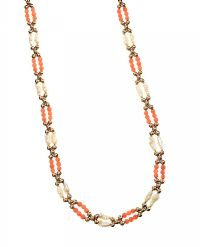 9CT GOLD NECKLACE SET WITH FRESHWATER PEARLS AND CORAL at Ross's Jewellery Auctions