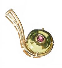 GLENN LEHRER 9CT GOLD PENDANT SET WITH TOURAMALINE at Ross's Jewellery Auctions