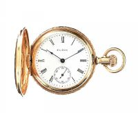 14CT GOLD ENGRAVED LADY'S POCKET WATCH at Ross's Jewellery Auctions