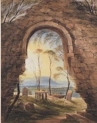 BELFAST FROM NEWTOWNBREDA CEMETERY by Andrew Nicholl RHA at Ross's Auctions