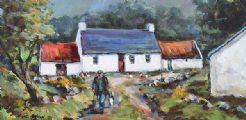 OLD SAM'S COTTAGE by Nigel Allison at Ross's Auctions