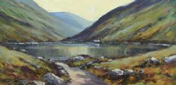 DOO LOUGH, COUNTY MAYO by Nigel Allison at Ross's Auctions