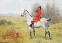 A HUNTSMAN CALLING by George Goodwin Kilburne RI ROI RMS at Ross's Auctions