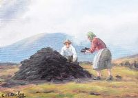 STACKING TURF by Charles McAuley at Ross's Auctions