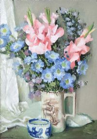 STILL LIFE, FLOWERS IN A VASE by Henry Robertson Craig RHA at Ross's Auctions