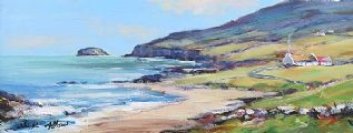 MALIN HEAD, DONEGAL by Nigel Allison at Ross's Auctions