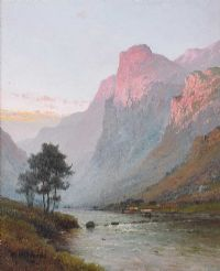EVENING BEN VENUE by Alfred De Breanski Senior at Ross's Auctions