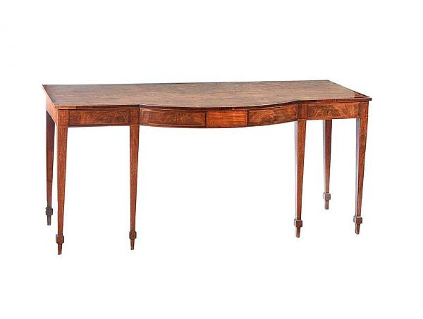 GEORGIAN MAHOGANY BOW FRONT SERVING TABLE at Ross's Online Art Auctions