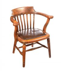 ANTIQUE OAK DESK CHAIR at Ross's Auctions