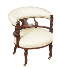 EDWARDIAN INLAID TUB CHAIR at Ross's Auctions