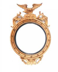 GILT CONVEX MIRROR at Ross's Auctions