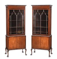 PAIR OF MAHOGANY DISPLAY CABINETS at Ross's Online Art Auctions