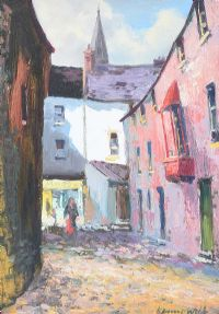 BUTTERMILK LANE, GALWAY by Kenneth Webb RUA at Ross's Auctions