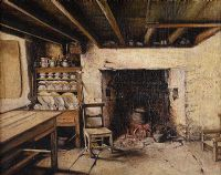 COTTAGE INTERIOR by Irish School at Ross's Auctions