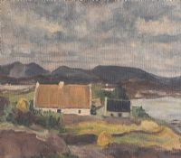 THATCHED COTTAGE, DONEGAL by Irish School at Ross's Auctions