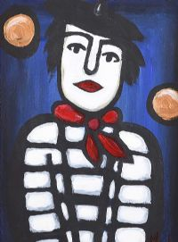 CLOWN WITH THE RED SCARF by Irish School at Ross's Auctions