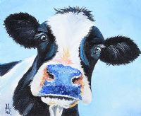 CURIOUS COW II by Irish School at Ross's Auctions