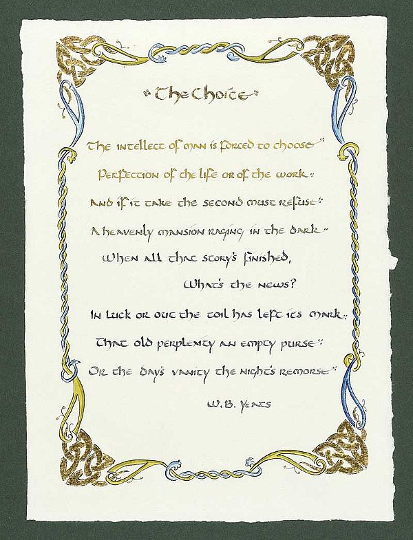 THE CHOICE BY WILLIAM BUTLER YEATS by English School at Ross's Online Art Auctions