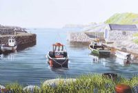 BALLINTOY HARBOUR, COUNTY ANTRIM by Keith Glasgow at Ross's Auctions