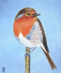 WINTER ROBIN by Irish School at Ross's Auctions