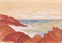 RED ROCKS & SEA by Irish School at Ross's Auctions